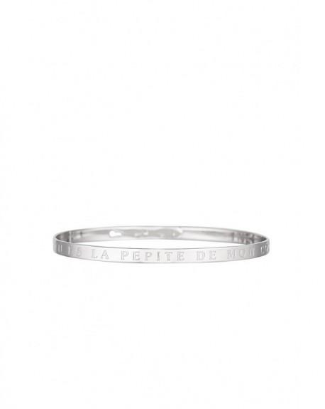 """Bracelet à message """"TU ES LA PEPITE DE MON COOKIE"""" en Laiton"""