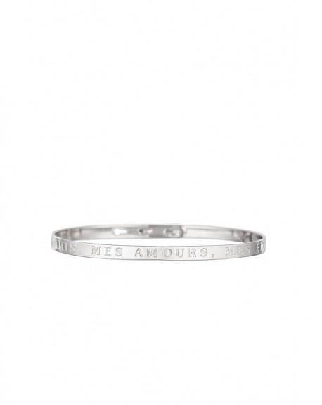 """Bracelet à message """"MES AMIS, MES AMOURS, MES EMMERDES"""" en Laiton"""