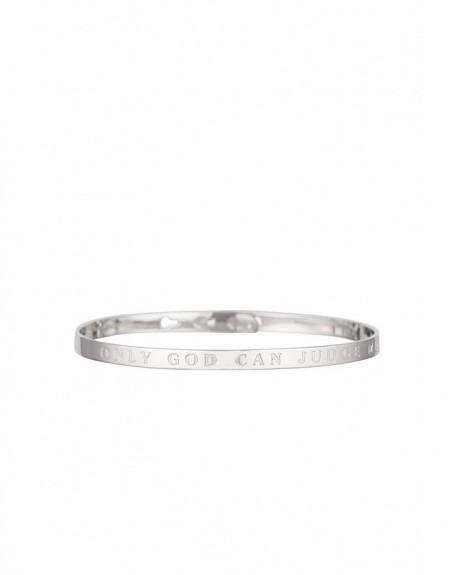 """Bracelet à message """"ONLY GOD CAN JUDGE ME"""" en Laiton"""