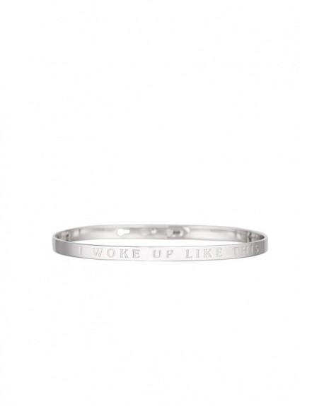"Bracelet à message ""I WOKE UP LIKE THIS"" en Laiton"