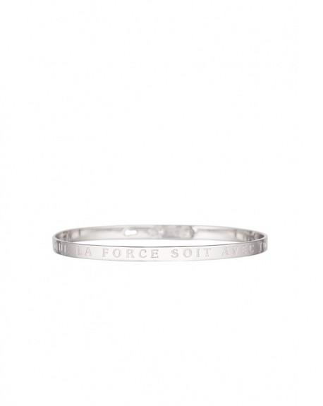 """Bracelet à message """"QUE LA FORCE SOIT AVEC TOI"""" en Laiton"""