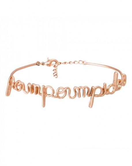 """Bracelet à message """"POUMPOUMPIDOU"""" en Laiton rosé"""