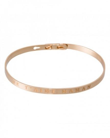 """Bracelet à message """"JE T'AIME MAMAN"""" en Laiton rosé"""