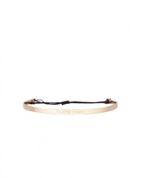 """Bracelet à message """"CARPE DIEM"""" en Laiton doré"""