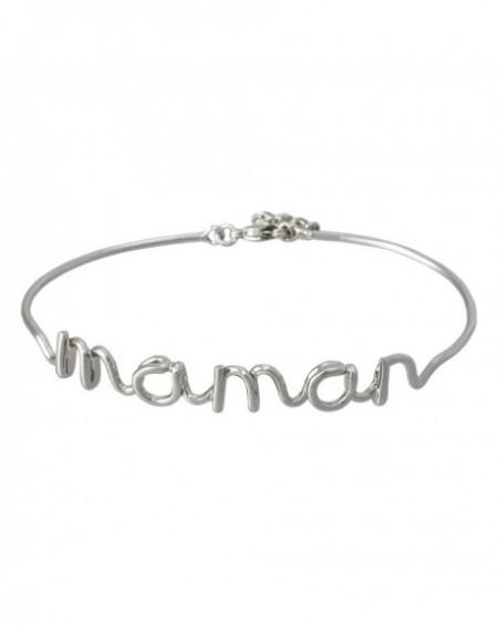 """Bracelet à message """"MAMAN"""" en Laiton"""