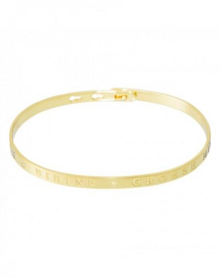 """Bracelet à message """"COPINE PLUS BIBINE EGAL GROSSE MINE"""" en Laiton doré"""