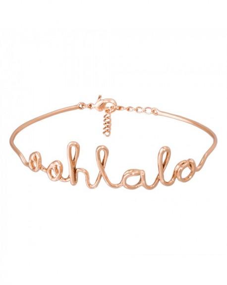 """Bracelet à message """"OOHLALA"""" en Laiton rosé"""
