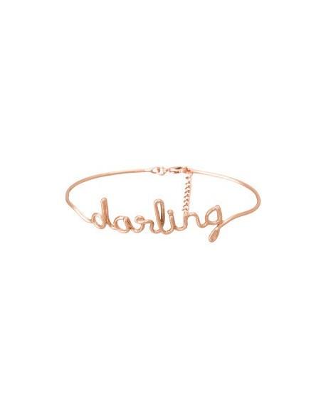"""Bracelet à message """"DARLING"""" en Laiton rosé"""
