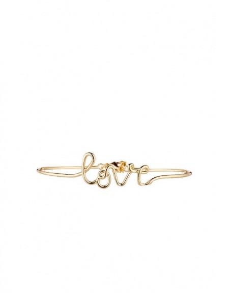 """Bracelet à message """"LOVE"""" en Laiton doré"""