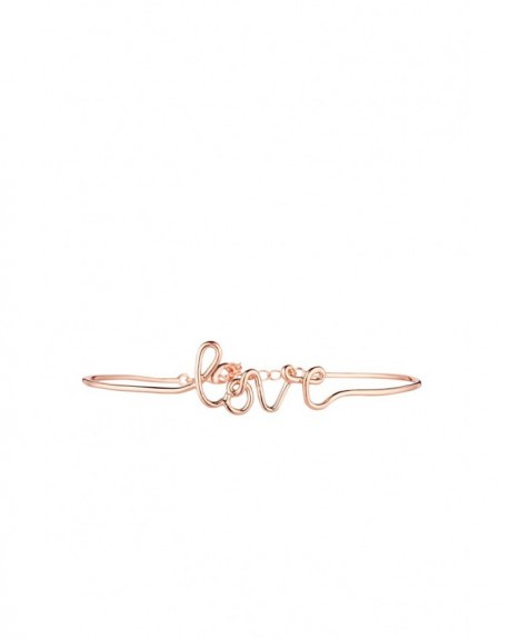 "Bracelet à message ""LOVE"" en Laiton rosé"
