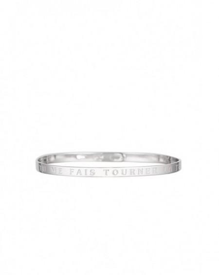 """Bracelet à message """"TU ME FAIS TOURNER LA TETE"""" en Laiton"""
