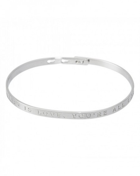 "Bracelet à message ""ALL YOU NEED IS LOVE, YOU'RE ALL I NEED"" en Laiton"