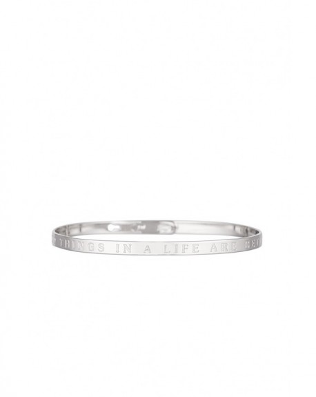 """Bracelet à message """"THE GOOD THINGS IN A LIFE ARE BETTER WITH YOU"""" en Laiton"""
