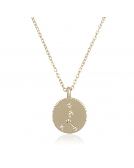"Collier Médaille ""Cancer"""