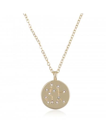 """Collier Médaille """"Gémeaux"""""""