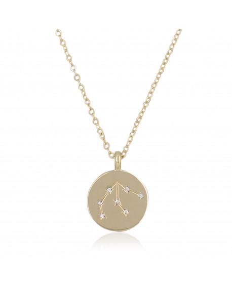 "Collier Médaille ""Verseau"""