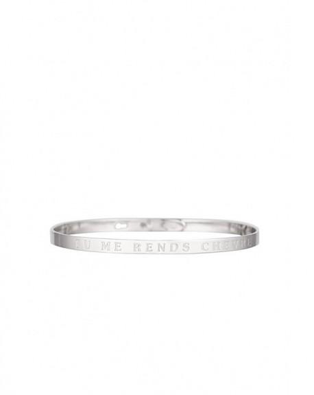 """Bracelet à message """"TU ME RENDS CHEVRE"""" en Laiton"""