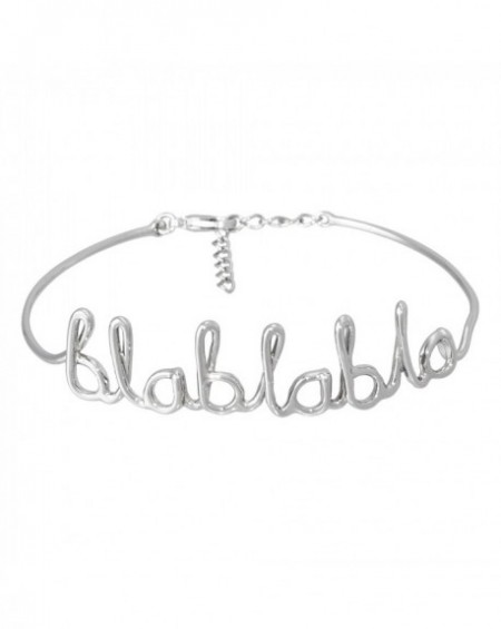 """Bracelet à message """"BLABLABLA"""" en Laiton"""