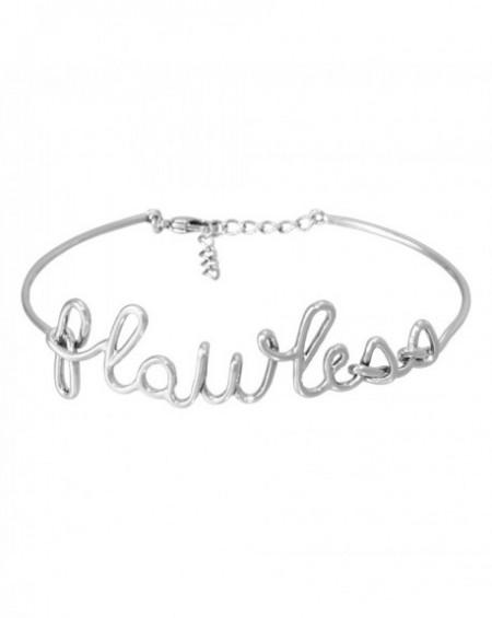 """Bracelet à message """"FLAWLESS"""" en Laiton"""