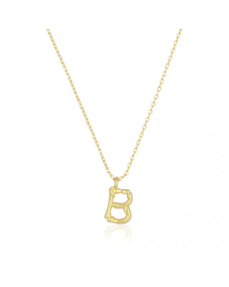 Collier Lettre B Bambou