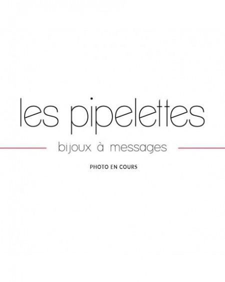 """Bracelet à message """"SANS MESSAGE"""" en Laiton"""