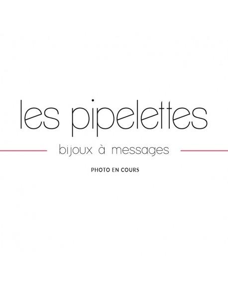 """Bracelet à message """"SANS MESSAGE"""" en Laiton doré"""