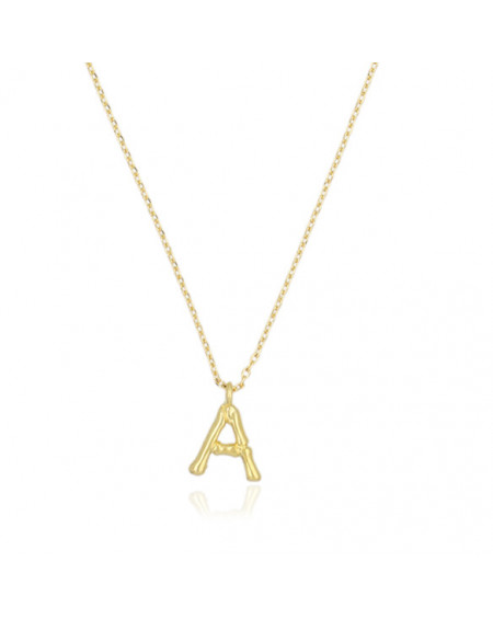 Collier Lettre A Bambou