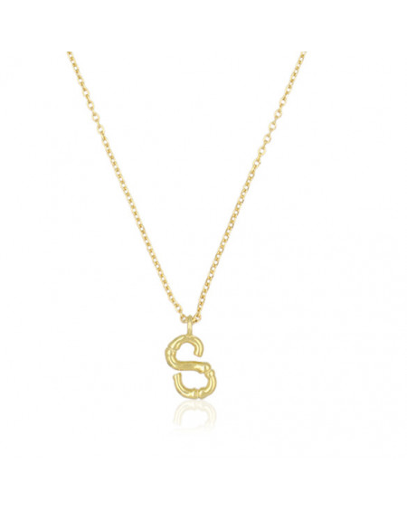Collier Lettre S Bambou