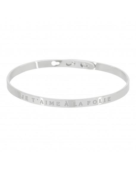 """Bracelet """"Je t'aime à la folie"""""""