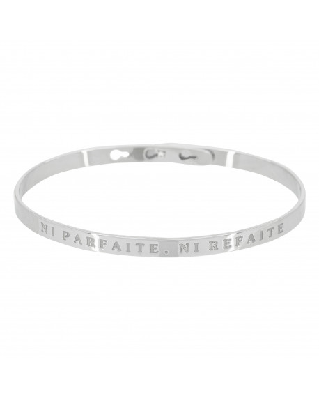 "Bracelet ""Ni parfaite, ni refaite"""